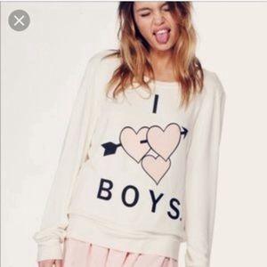 Wildfox l I Love Boys Jumper Pullover Sweatshirt